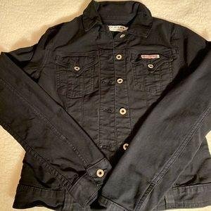 Hudson Jeans Black Denim Jacket